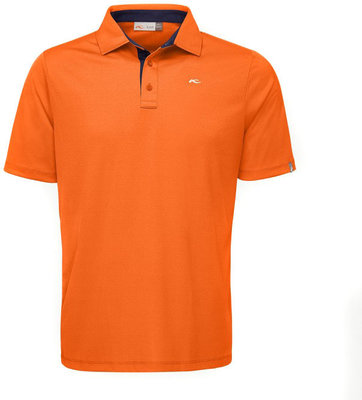 Kjus Men Silas Polo S/S K.Orange Atl.Blue 52