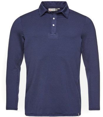 Kjus Men Soren Polo Solid L/S Atlanta Blue 52