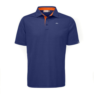 Kjus Men Silas Polo S/S Front Logo Atl.Blue K Orange 56