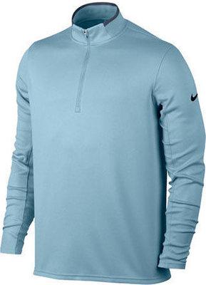 Nike DriFit HZip LS Mens Top Ocean Bliss/Thunder Blue/Silver L