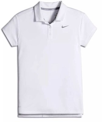 Nike Dry Polo Sl White/Flt Silver Womens XS