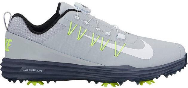 Nike Lunar Command 2 BOA Mens Golf Shoes Wolf Grey/Blue/Volt/White US 15