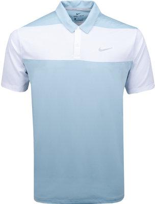 Nike Dry Polo Color Blk Ocean Bliss/White/Flt Silver Mens S
