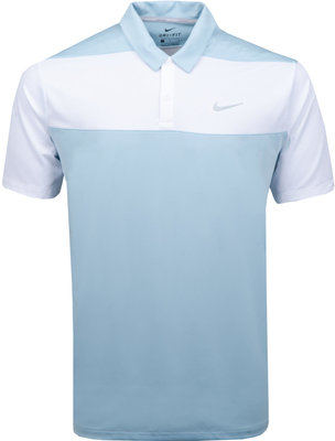 Nike Dry Polo Color Blk Ocean Bliss/White/Flt Silver Mens L