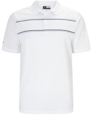 Callaway Engineered Jacquard Polo Bright White M Mens