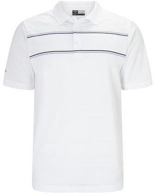 Callaway Engineered Jacquard Mens Polo Shirt Bright White S