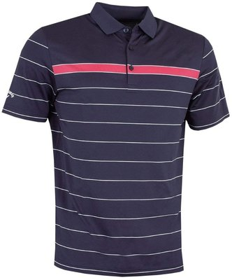 Callaway Sophisticated Stripe Polo Peacoat S Mens