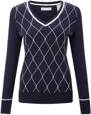 Callaway Jacquard Sweater Peacoat M Womens