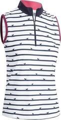 Callaway Birdie Stripe Print Sleeveless Womens Polo Shirt