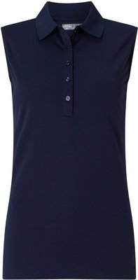 Callaway Sleeveless Micro Hex Polo Peacoat XS Womens