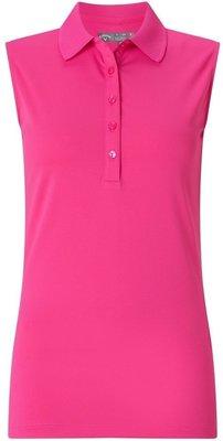 Callaway Sleeveless Micro Hex Polo Pink Yarrow L Womens