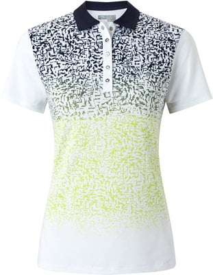 Callaway Ombre Splash Polo Bright White XL Womens