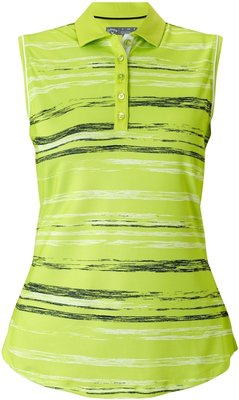 Callaway Space Dyed Stripe Polo Sharp Green L Womens