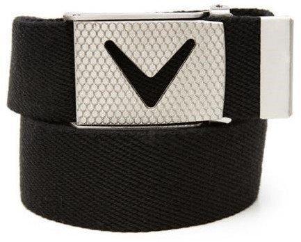 Callaway Cut-To-Fit Solid Webbed Belt Caviar Os Mens