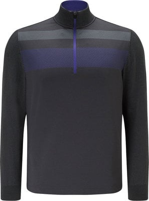 Callaway 1/4 Zip Blocked Mens Sweater Caviar S