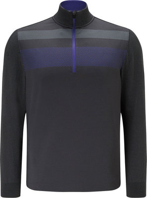 Callaway 1/4 Zip Blocked Pullover Caviar L Mens