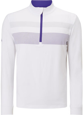 Callaway 1/4 Zip Blocked Pullover Bright White XXL Mens