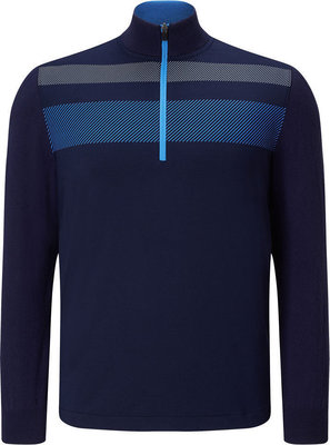 Callaway 1/4 Zip Blocked Pullover Marina L Mens
