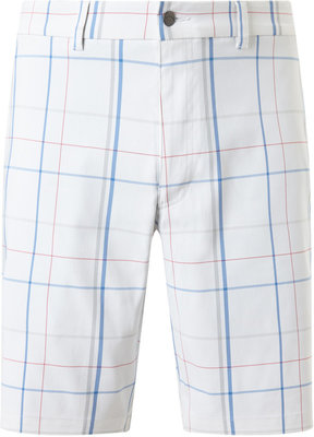 Callaway Large Scale Plaid Short Bright White 36 Mens