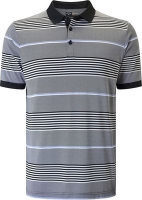 Callaway 3 Colour Stripe Polo Caviar XL Mens