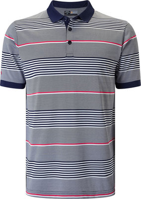 Callaway 3 Colour Stripe Polo Peacoat XXXL Mens