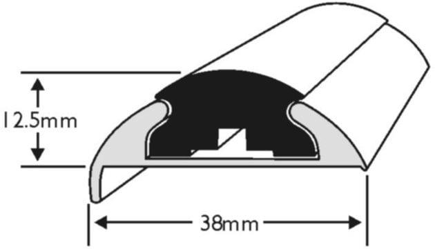 Wilks Dek-King Insert for Profile 68 - 19m - Black
