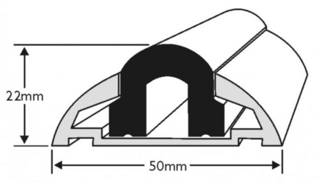 Wilks Dek-King Aluminium Profile 604 - Base