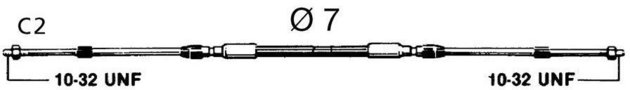 Ultraflex C2 ENGINE CONTROL CABLE - 9'/ 2'75 m