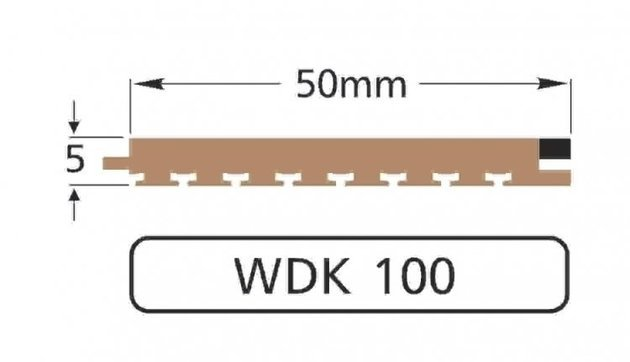 Wilks Dek-King WDK 100-10 50mm x 10 m
