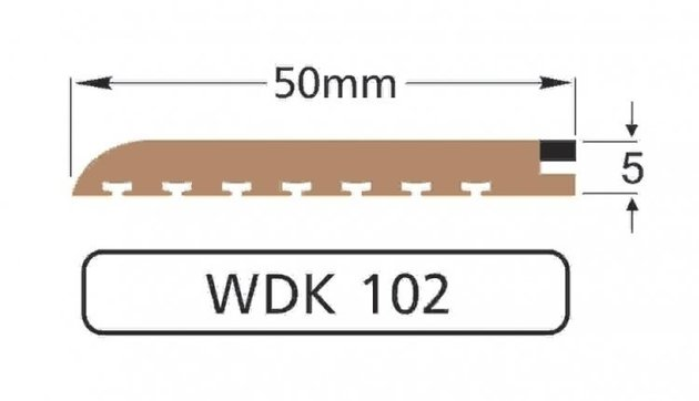 Wilks Dek-King WDK102-10 50mm x 10m