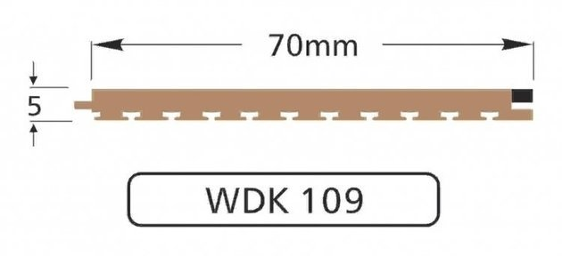 Wilks Dek-King WDK 109 70mm x 10m