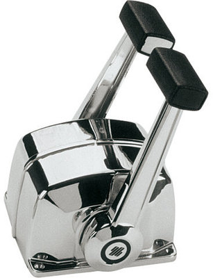 Ultraflex B78 Twin lever control for two engines chrome plated with trim