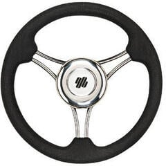 Ultraflex V21B Steering Wheel Stainless 350 PU - Black