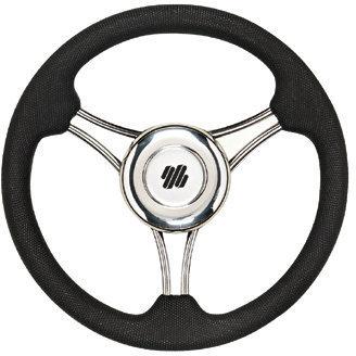 Ultraflex V21B Steering Wheel Stainless 350 PU - Black