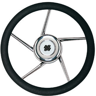 Ultraflex V01 Steering Wheel Stainless 350 PU - Black