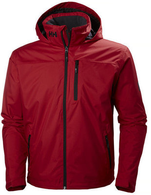 Helly Hansen Crew Hooded Midlayer Jacket - Red - M
