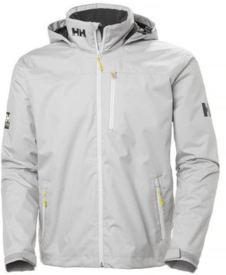 Helly Hansen CREW HOODED MIDLAYER JACKET - SILVER GRAY - XL