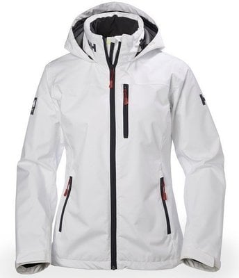 Helly Hansen W Crew Hooded Jacket - White - L