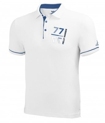 Helly Hansen HP Racing Polo White/Blue - M - XXL