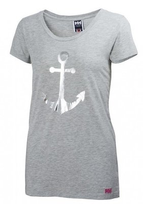 Helly Hansen W Graphic T-Shirt - Gray - L