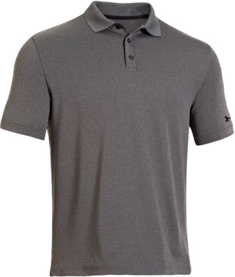 Under Armour Medal Play Performance Polo Carbon Heather M