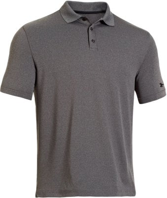 Under Armour Medal Play Performance Polo Carbon Heather S