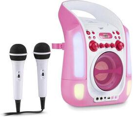 Auna Kara Illumina Karaoke system Pink