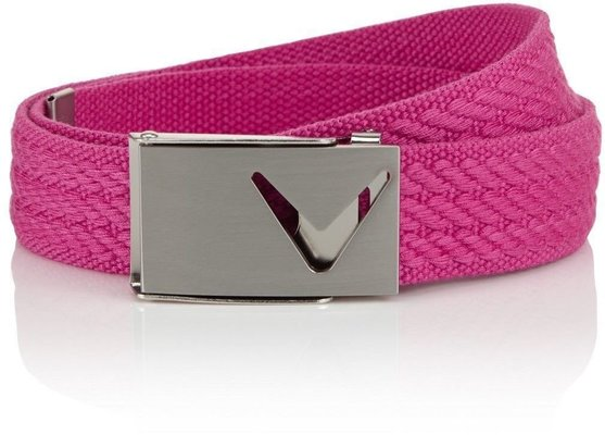 Callaway Web Belt Cuto Pink Yarrow OS Womens