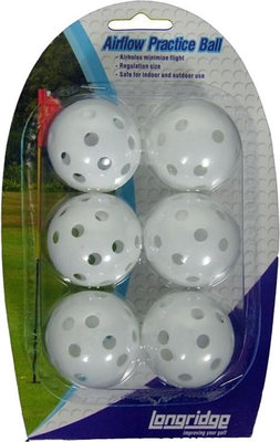 Longridge White Airflow Balls - 6 Pk