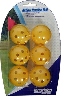 Longridge Yellow Airflow Balls 6 Pk