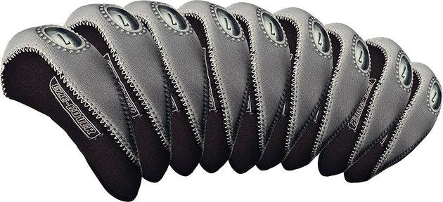 Longridge Eze Iron Covers 10Pcs Black/Silver