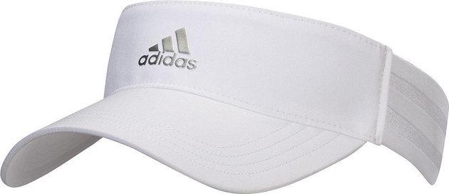 Adidas 3 Stripe Visor White