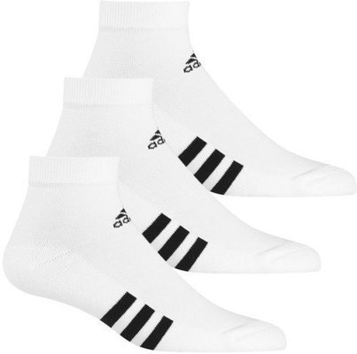 Adidas 3-Pack Ankle White Mens 6-10