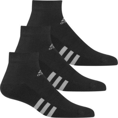 Adidas 3-Pack Ankle Black Mens 11-14
